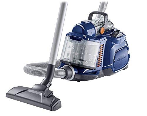 AEG-Performer-Cyclonic-ASPC7110-Staubsauger-ohne-Beutel-EEK-B-800-Watt-DustPro-Bodendse-Softrder-waschbarer-Hygiene-E12-Filter-blau