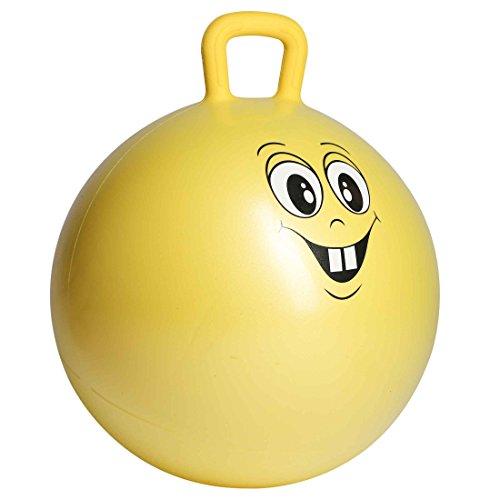 Ultrasport Hüpfball, Robuster Springball für Kinder ab 3 Jahren, mit Haltegriff und Witzigem Gesicht als Motiv