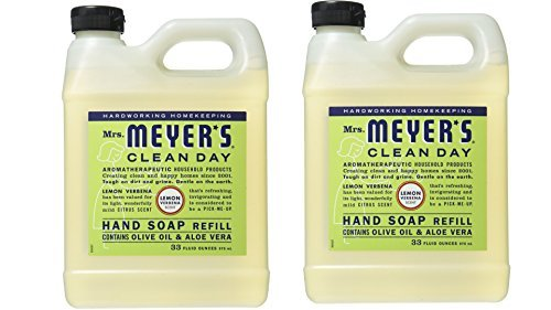 Lemon Hand Soap Refill (Mrs. Meyer's Liquid Hand Soap Refill, Lemon Verbena, 33 Fluid Ounce - by Mrs. Meyers)