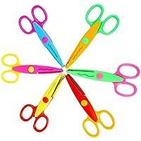 HEALIFTY 6pcs dekorative Papier Rand Scissor Set DIY Sicherheits Schere Kinder Schere