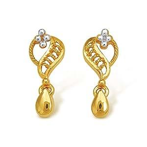 Nishtaa 22K Yellow Gold Drop Earrings