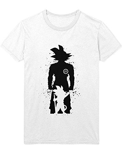 T-Shirt Son Goku Dragon Z Growing Fast GT Super Trunks Gohan C980004 Weiß ()