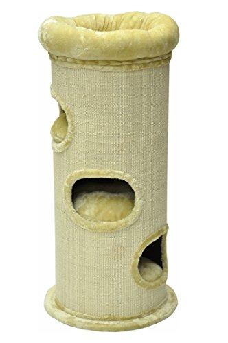 nanook Kratztonne Sisaltonne - Größe XL 110 cm - mit großen Katzenbett - standfest durcht Bodenplatte - beige -