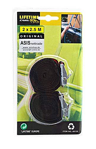 Spanngurt Spannband Zurrgurt mit Klemmverschluss 1 Set = 2 Stück - 2x2,5m - 4 Sets