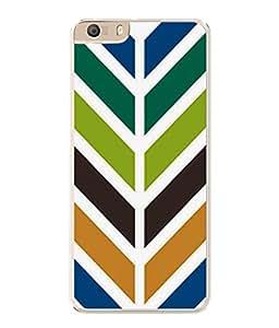 PrintVisa Designer Back Case Cover for Micromax Canvas Knight 2 E471 (Zigjag Colourful Design Strip Zebra Crossing )