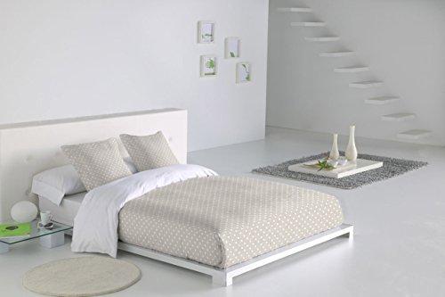 Sabanalia - Funda nórdica Niza (disponible en varios tamaños y colores), Cama 150, blanco