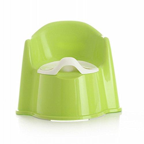 HM Große Kinder Rückenlehne WC Sitz Baby WC WC Sitz mit Einem Tiefen Rücken Rille, Um Den Boden Der Toilette zu Reinigen,Grün
