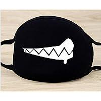 Toyonee - Máscara de Boca de algodón, Antipolvo, Color Negro, diseño de Estrella de Dientes, para niños, Adolescentes, Hombres y Mujeres, Color B, tamaño 2
