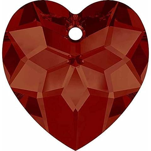 Ciondolo a forma di cuore con cristallo Swarovski, Red Magma, 18mm - Pack of 1