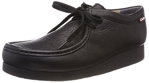 Clarks Herren Stinson Lo Derbys, Schwarz (Black Leather), 42 EU (Wallabees Herren Clarks)