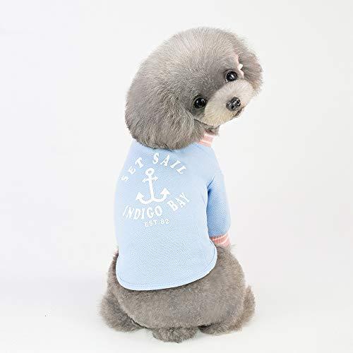 PZSSXDZW Frühlings- und Sommerhaustierkleidungs-Seemann T-Shirt als Bär ()