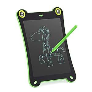 8,5 pollici Tavoletta Grafica Scrittura Tablet LCD -HOMSTEC Penna Wireless Disegni di Animazione per Insegnante, Studenti, Progettista, Imprenditore (nero-rana)