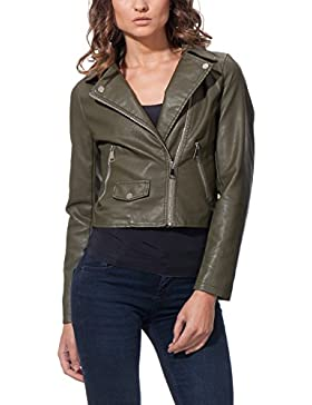 OSLEY PARIS Biker With Pocket Detail - Chaqueta Mujer