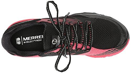Merrell  All Out Charge, Baskets pour femme Noir (Black/Geranium)