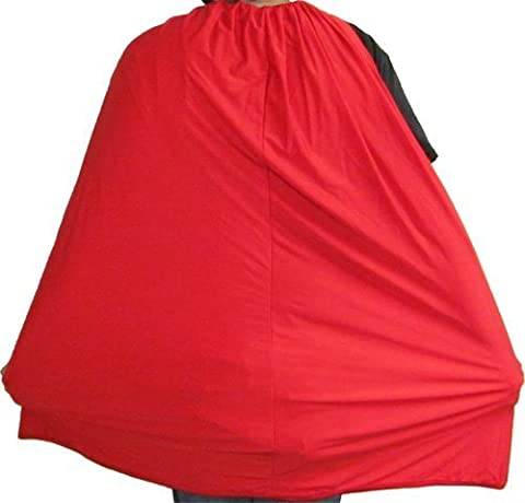 Costume Agent Spandex Superhero Zubehör Kostüm-Cape für Erwachsene in rot