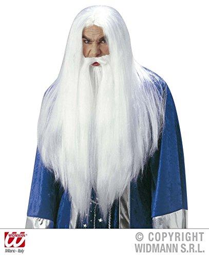 Merlin Bart Kostüm (PERÜCKE - ZAUBERER - *** MIT BART UND SCHNURRBART)