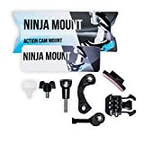 Ninja Mount - Big Pack - Action Camera Supporto Fullface caschi Compatibile con GoPro, Garmin & Rollei Speciale Mount per Downhill/ATV/Motocross caschi con Visiera, Made in Germany, Nero