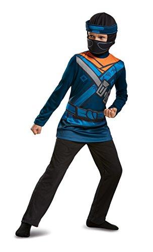 Kostüm Jay Ninjago Lego - Lego Ninjago Movie 51807G Zweiteiler, Jay L (10-12 J.) Spielzeug, Unisex-Kinder, Blau, 137 x 149 cm
