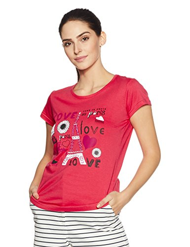 Cloth Theory Women's Regular Fit T-Shirt (TSWB13_Coral Pink_Small)