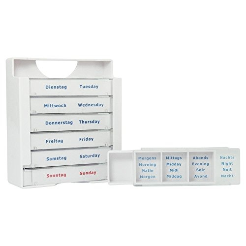 Wochendispenser Tablettendispenser Woche mit 4 Fächern 09209