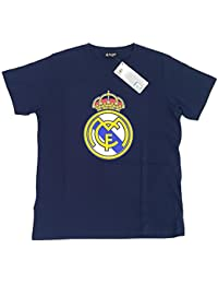 Camiseta Real Madrid Adulto Marino Escudo Centro [AB3911]