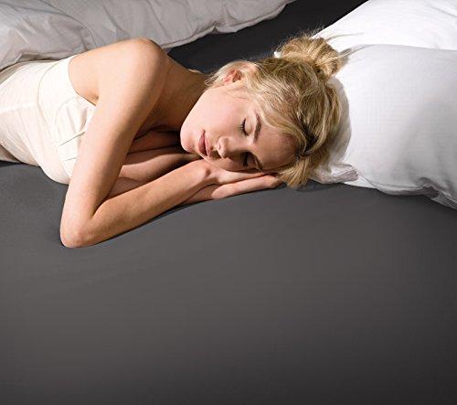 Spannbettlaken Bella Donna Jersey für Matratzen & Wasserbett 140-160 x 200-220 cm in Hellanthrazit