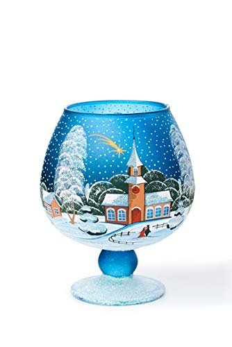 AROMA HOME STUDIO ART PAINTING Weihnachts Windlicht Teelichthalter, Winter-Design Make a Wish,...