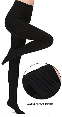 KOROSHNI Girl\'s Imported Fleece Warm Thermal Hot Winter Leggings / Full Foot Fleece lined Tights Stocking / Thermal Stretchy Leggings Pants / Fleece Inside For Winters / Leg Warmers / Elastic Waist B