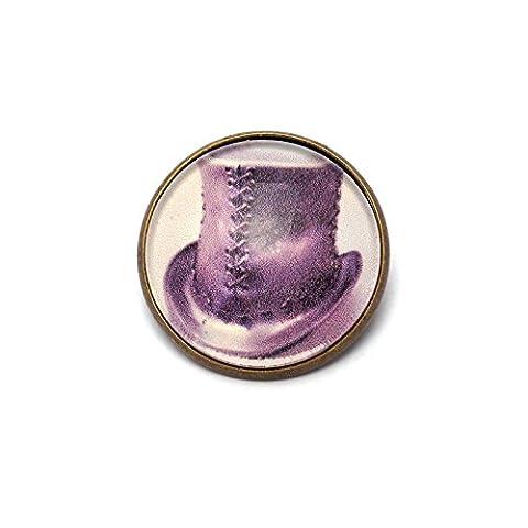 Broche Steampunk (chapeau haut de forme) - Création Noxlacrima