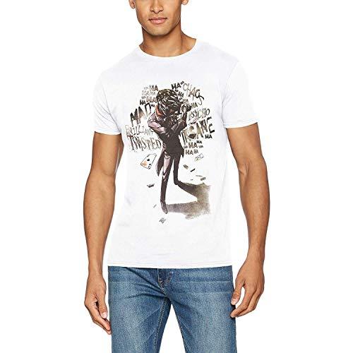 Batman Joker Insane Camiseta, Blanco White, Small para Hombre