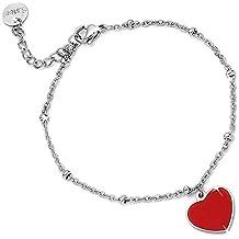 Beloved ❤ Armband Damen Armband mit Charm Anhänger Anhänger Linie Easy mit  Herz Emaille Farbe e309fe91fa