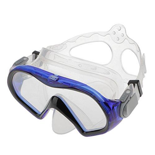 Einstellbar Kinder Erwachsene Tauchermaske Googles Schnorcheln Tauchausrüstung Blau