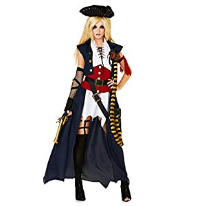 Karnival Mariner Pirate Lady Costume Disfraz Multicolor, Large 81303