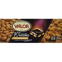 Valor Chocolate Negro Con Almendras - 250 gr