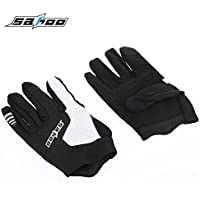 Zhuhaimei,Atmungsaktive Anti-Rutsch-Unisex Shock Resistant Outdoor Sports Vollfinger Radfahren Handschuhe(Color:SCHWARZ,Size:M)