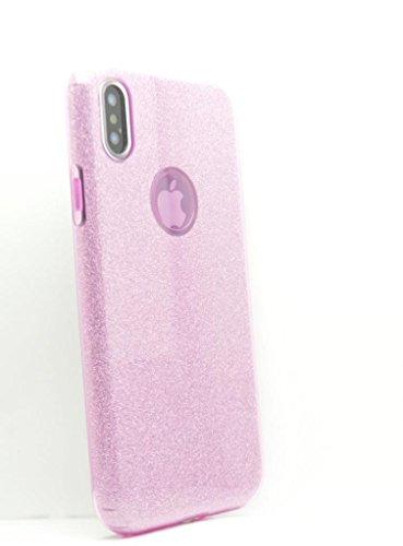 OLIVIASPHONES iPhone X-Violett Lila Dual Layer Schimmer Effekt Tough Impact Schutz Gel Back Case Cover-Zubehör für Handys - 4 Violetten Schimmer