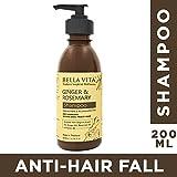 Bella Vita Organic Hair Growth & Fall Control Shampoo With Ginger, Rosemary, Eucalyptus