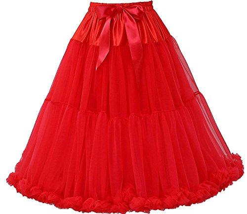 (FOLOBE Frauen Tutu Kostüm Ballett Tanz Puffy Rock Erwachsene Luxuriöse Weiche Chiffon Petticoat Tüll Tutu Rock)