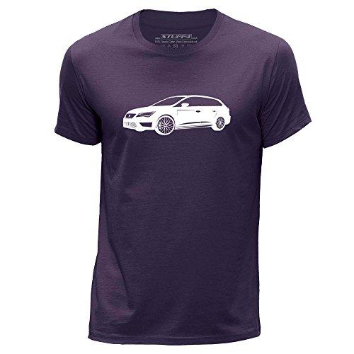 stuff4-hombres-xxx-grande-3xl-purpura-cuello-redondo-de-la-camiseta-plantilla-coche-arte-leon-cupra-