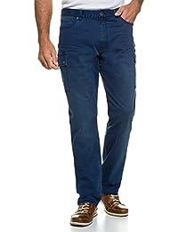 JP 1880 Herren große Größen bis 66 | Cargo Hose | Freizeithose im 4-Pocket-Schnitt | Regular Fit | Schenkeltaschenn & Gürtelschlaufen | in blau & grün | 708120