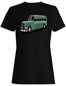 Autobús, conductor, divertido, v