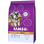Iams Dry Dog Food Adult Senior and Mature 7+, Chicken, 3 kg - Pack of 3