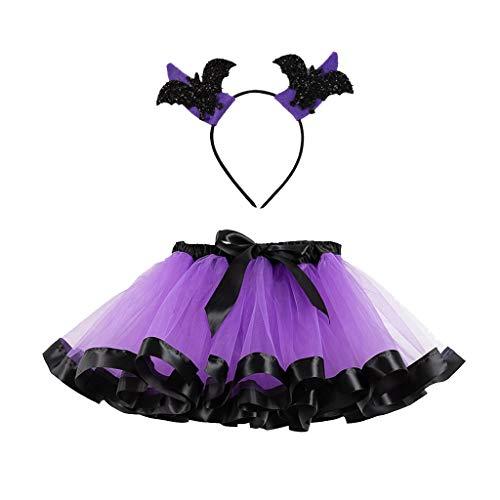 Baiomawzh Disfraz Halloween 2Pc/Conjuntos Tutú Vestidos