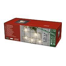 Konstsmide 1441-103 LED Dekolichterkette mit 8 Acrylelchen / für Innen (IP20) / VDE geprüft / 24V Innentrafo / mit an/aus Schalter / 8 warm weiße Dioden / transparentes Kabel