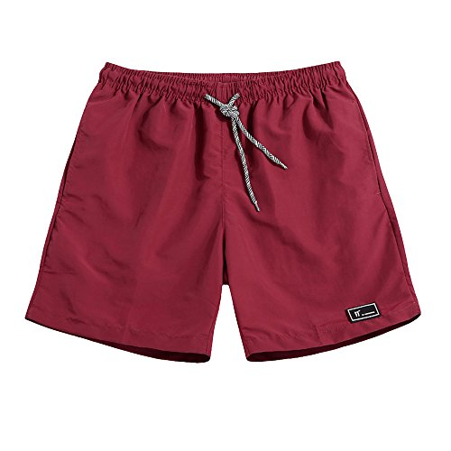 Rera Herren Sommer Sport Shorts Bermuda Kurze Jogginghose Trainingshose Schnelltrocknend Strand Shorts Gummizug Badehose (Drawstring-tasche Trainingshose)