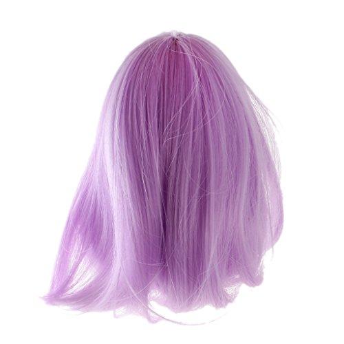 MagiDeal Süße Fantasie Puppe lockiges Haar Perücke Haarteil für 1/6 Blythe Puppen - Perücke 1