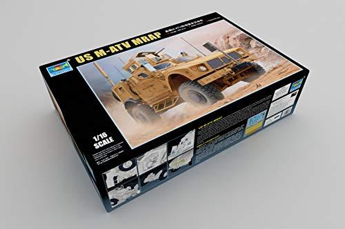 Trumpeter 00930 - Modellbausatz US M-ATV Mrap, grau (Model Paint Kit Militär)