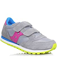 SAUCONY SC56453 JAZZ DBLE HL grigio rosa blu scarpe bambina girls strappo acb816d85c9