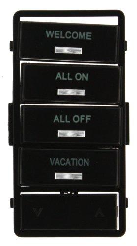 Leviton VPSLB-S4E Vizia RF + Black Label Kit for 4-Button Scene Controller (VRCS4) by Leviton (Controller Leviton)