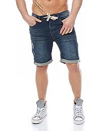 SUBLEVEL Herren Sweat Short Jeans Bermuda Jogging Short kurz 18KD84 Farbe Dark Blue 31